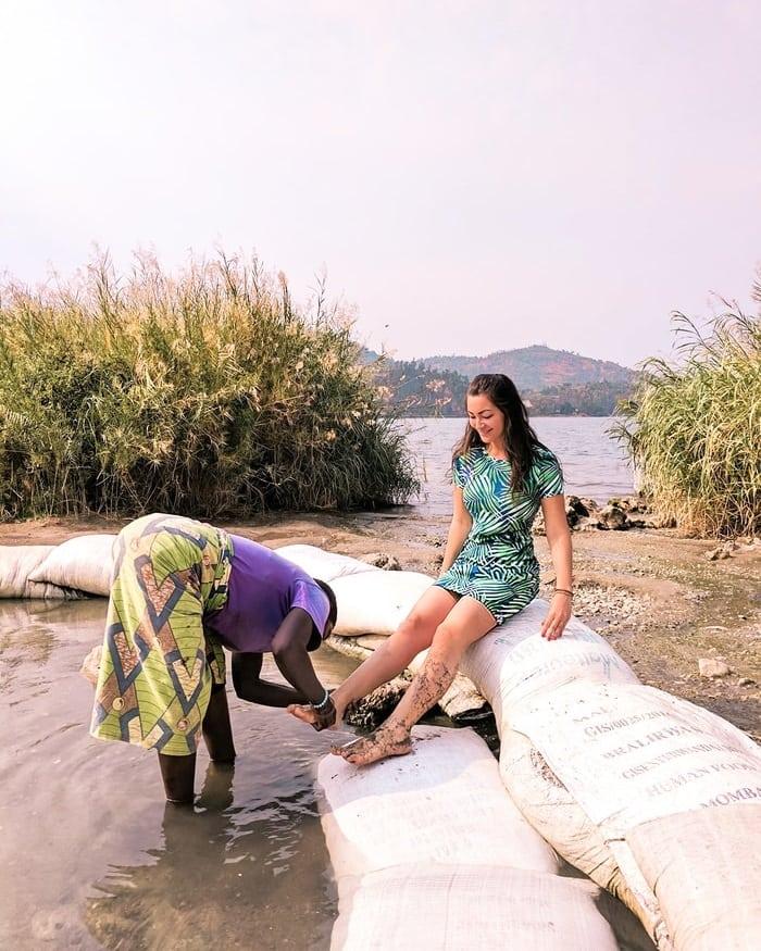 FREE MASSAGES AT THE LAKE KIVU HOT SPRINGS
