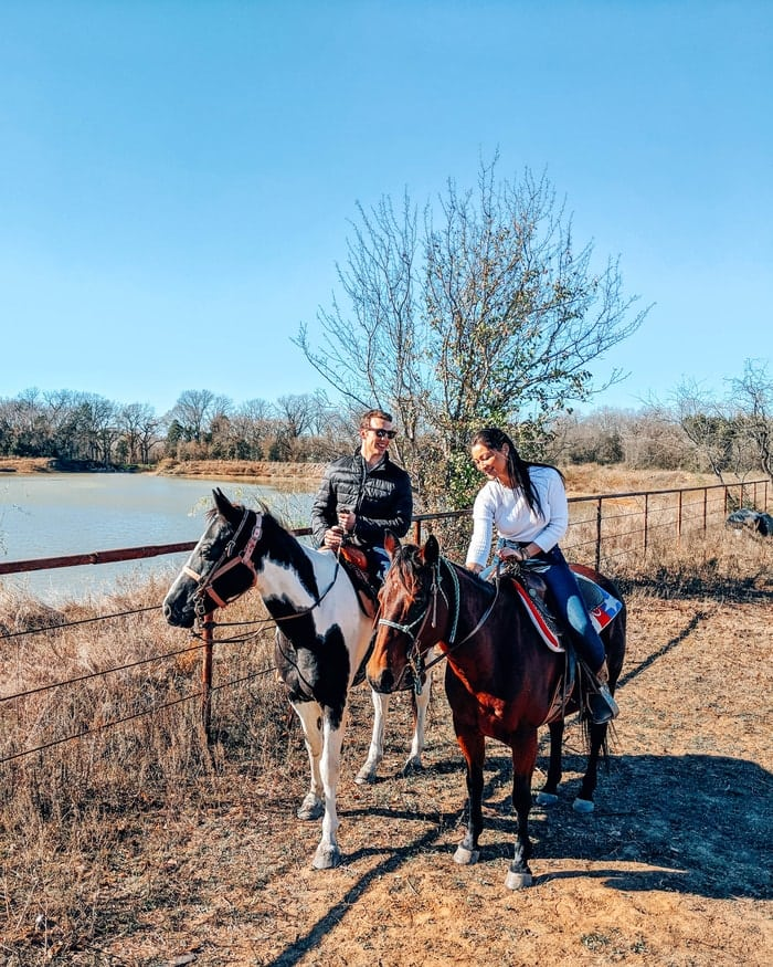HORSEBACK RIDING AT THE TEXAS HORSE PARK