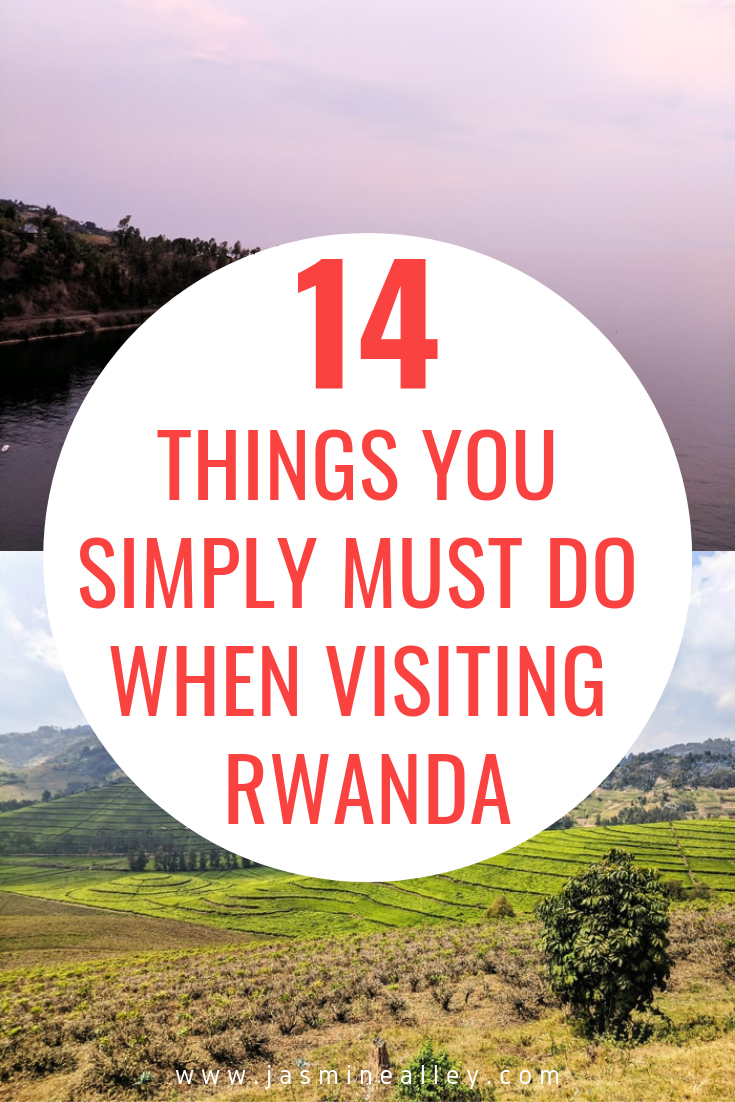 Upcoming travel to Rwanda? If you\'re looking for things to do in Rwanda, check out this list of 14 musts! These activities will show you what the culture, food, people, and country are like. Rwanda has changed for the better since the genocide, see it for yourself! From Kigali to mountain gorilla trekking, plan your Rwanda trip with these 14 things! #Rwanda #Africa #AfricaTravel #traveltips #travelRwanda