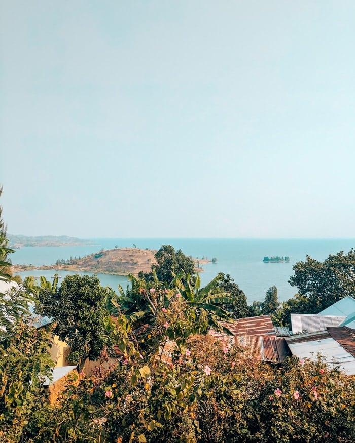Views of Lake Kivu in Gisenyi, Rwanda