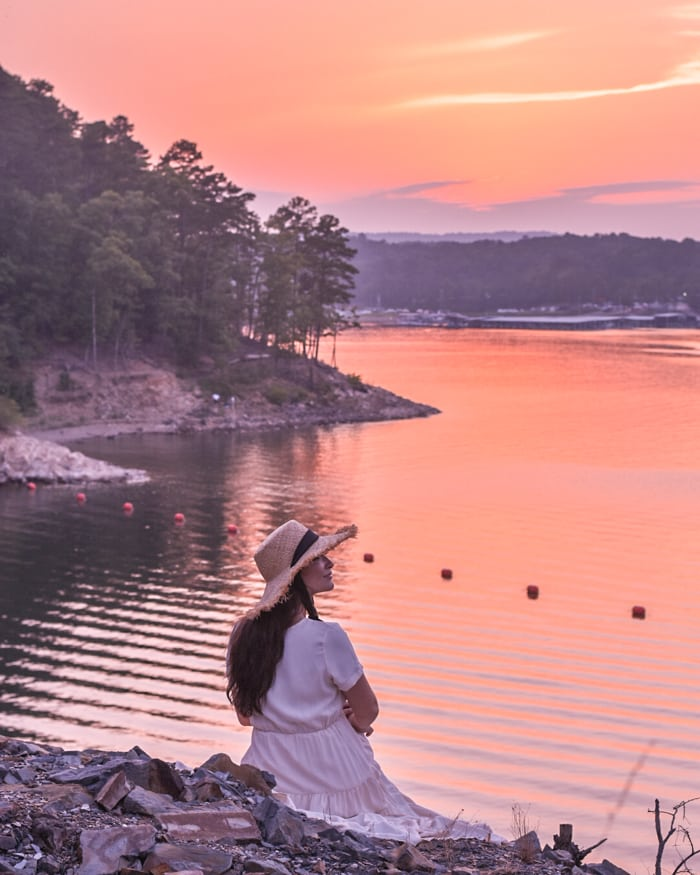 Sunset view broken bow ok