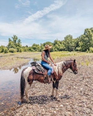 Horseback Riding with Riverman Trail Rides in Oklahoma