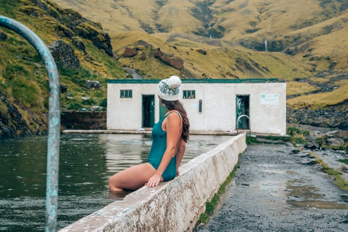 An Iceland itinerary stop at Seljavallalaug