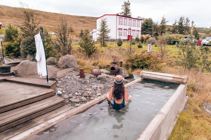 Hot tub at Guesthouse Storu-Lagar in Iceland