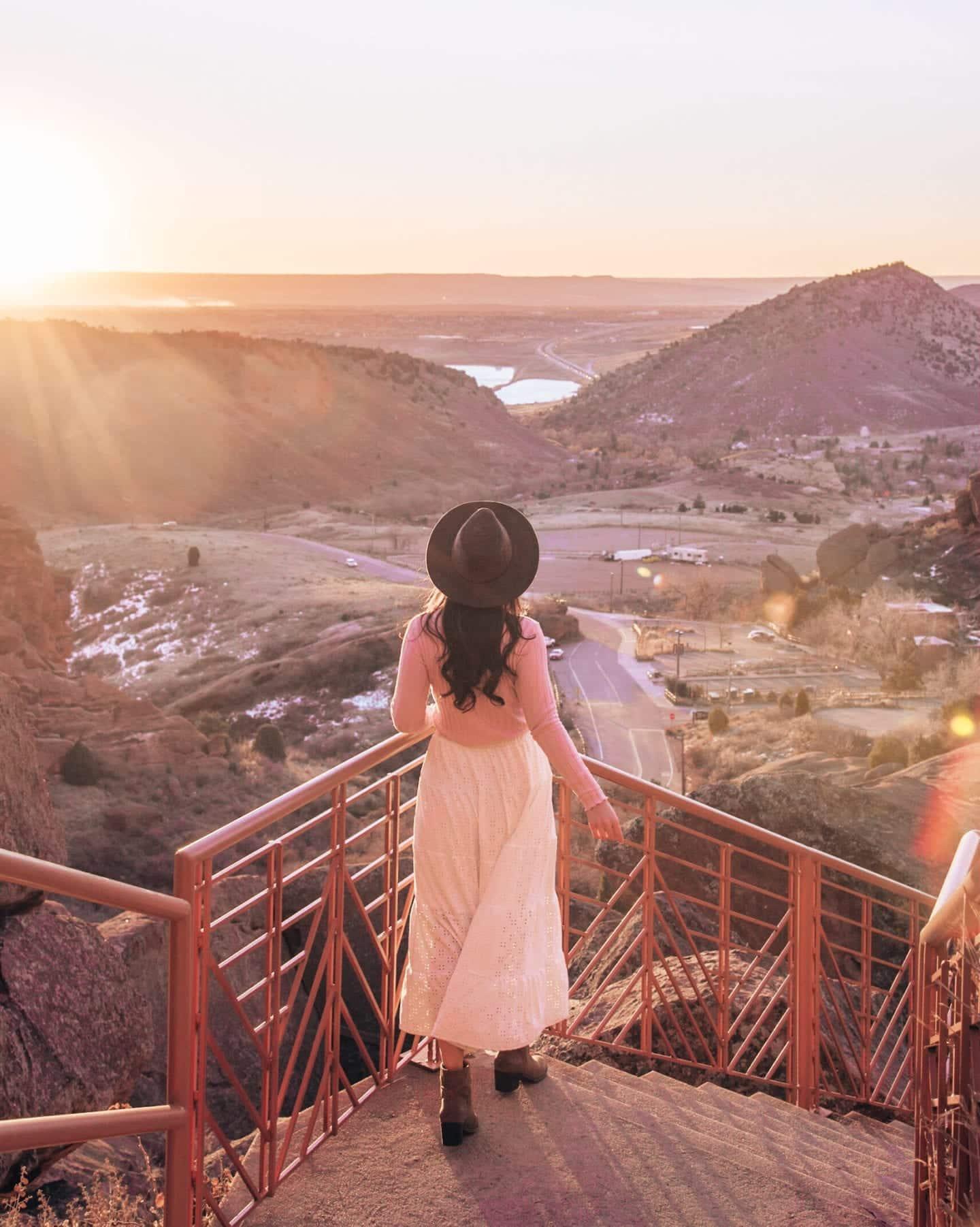 Sunrise at Red Rocks Amphitheater in Morrison