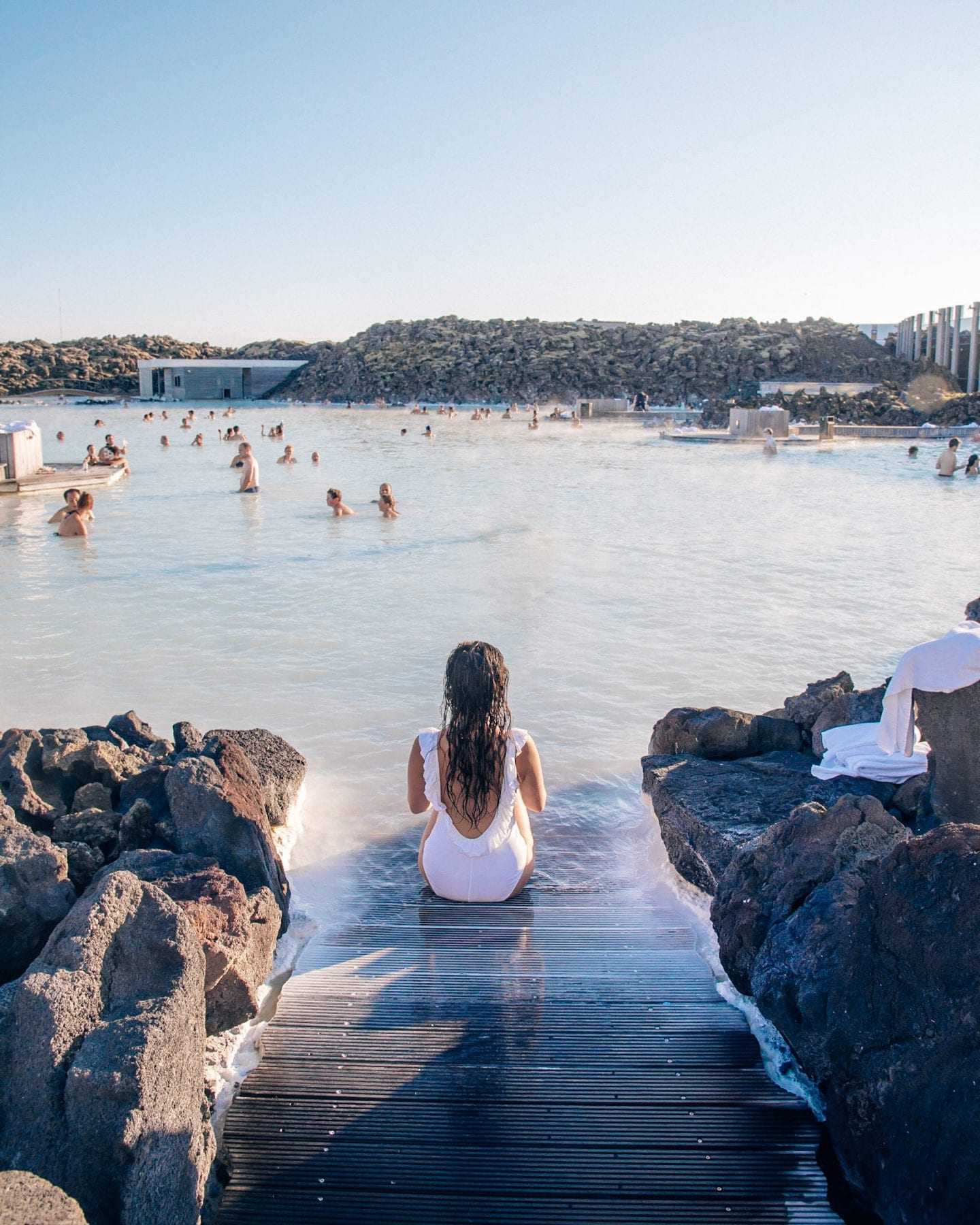 sitting at the blue lagoon