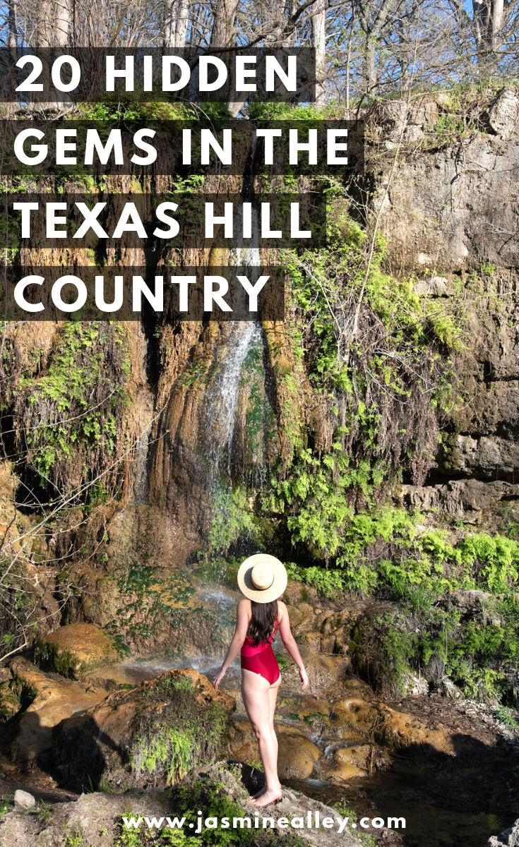 These 20 hidden gems in the Texas Hill Country will blow you away! These 20 spots include nature, food, scenic drives, where to stay, and towns to visit. If you're doing a Hill Country road trip, you need to stop at these places and check out these things to do. Texas has a lot of beauty, and these Instagrammable spots are definitely photo-worthy! Make time for the prettiest nature in the Hill Country as well as the best food around! #texashillcountry #texasroadtrip #roadtrip #travel #texas