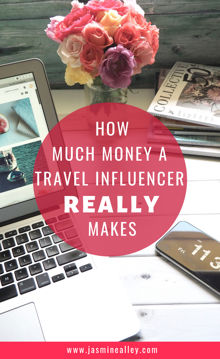 Want to know how to make money as an Instagram influencer or travel blogger? Here\'s a breakdown of my actual earnings since I started my side hobby of being a travel influencer. I\'ve slowly transitioned it into my main job, and you can see how here! I hope that by being transparent, I can help you understand how much travel influencers really make (or this one at least!). #bloggingtips #influencertips #travelinfluencer #stayathomejobs #instagram