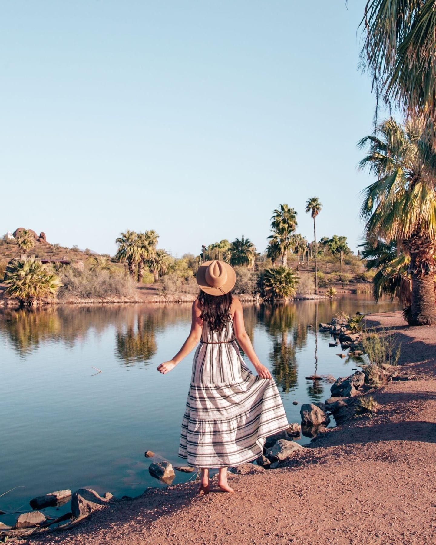 Girl at papago park in Scottsdale, Arizona