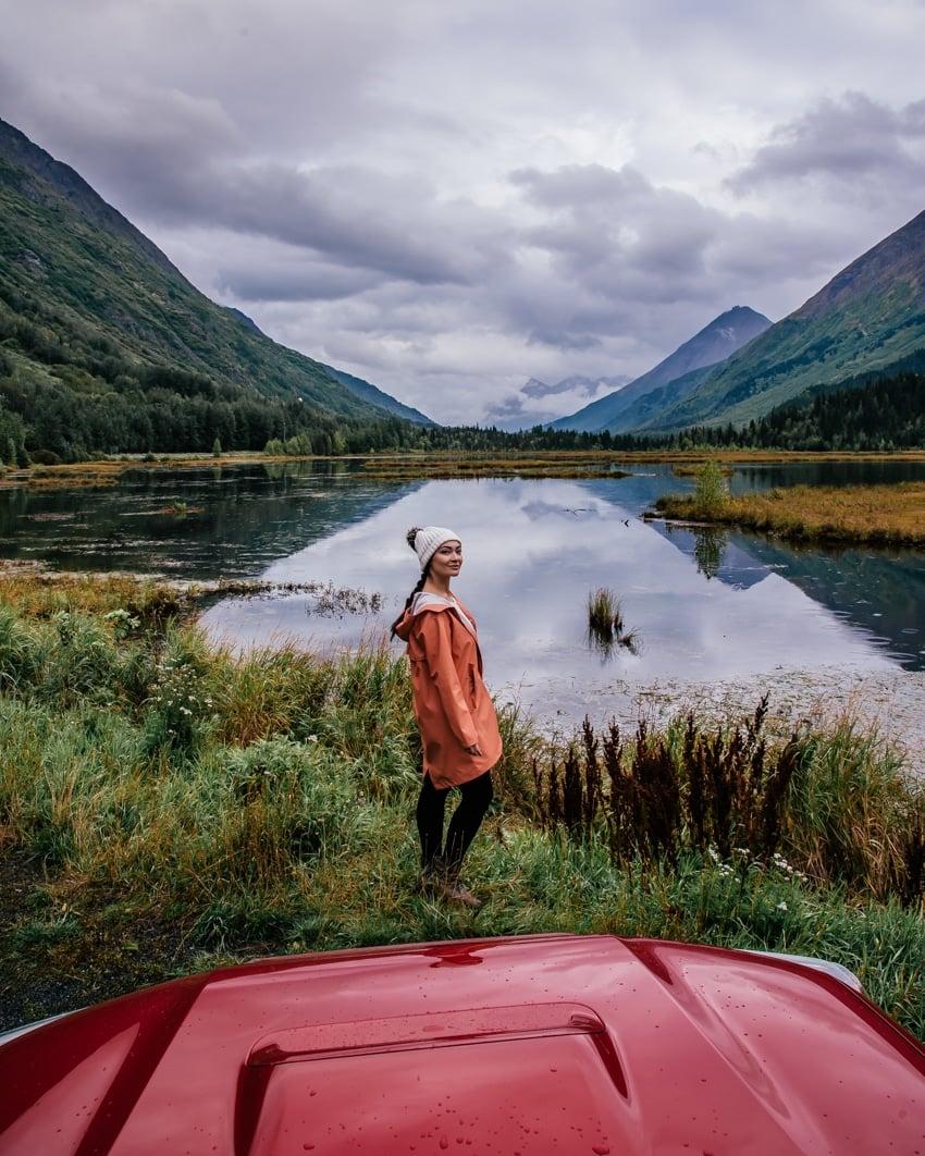 highway views in Alaska