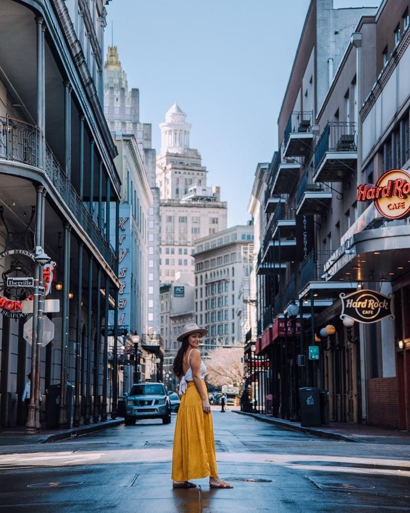 Bourbon Street view New Orleans