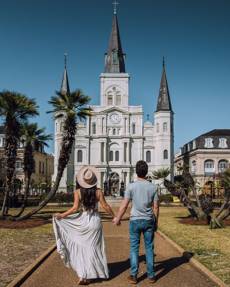St Louis Cathedral from Jackson Square New Orleans