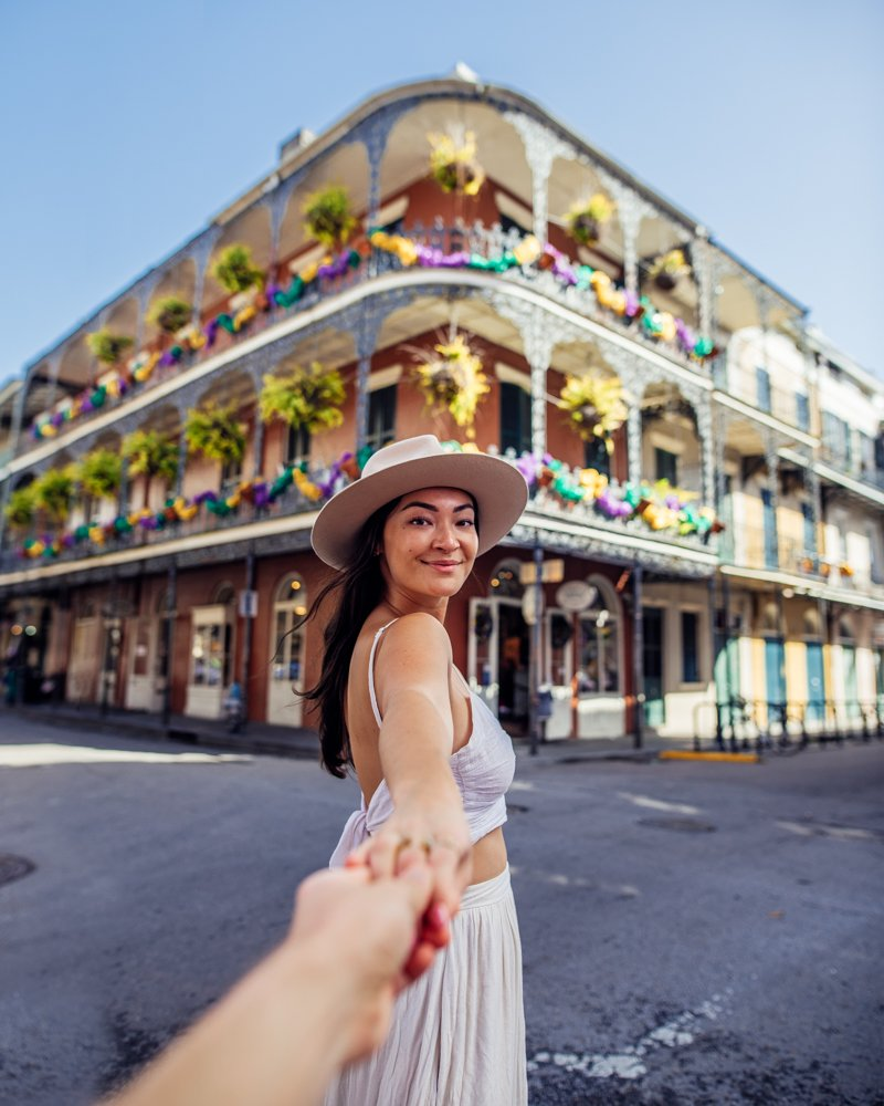 Famous balcony in New Orleans French Quarter