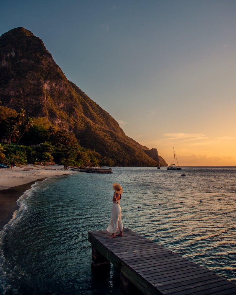 Saint Lucia dock
